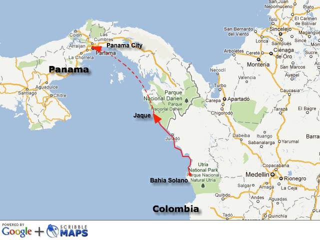 travel from panama colombia