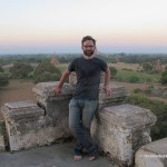 Me on top of the Shwesandaw Pagoda, one of the favourite sunset watching locations. (Will Jackson)