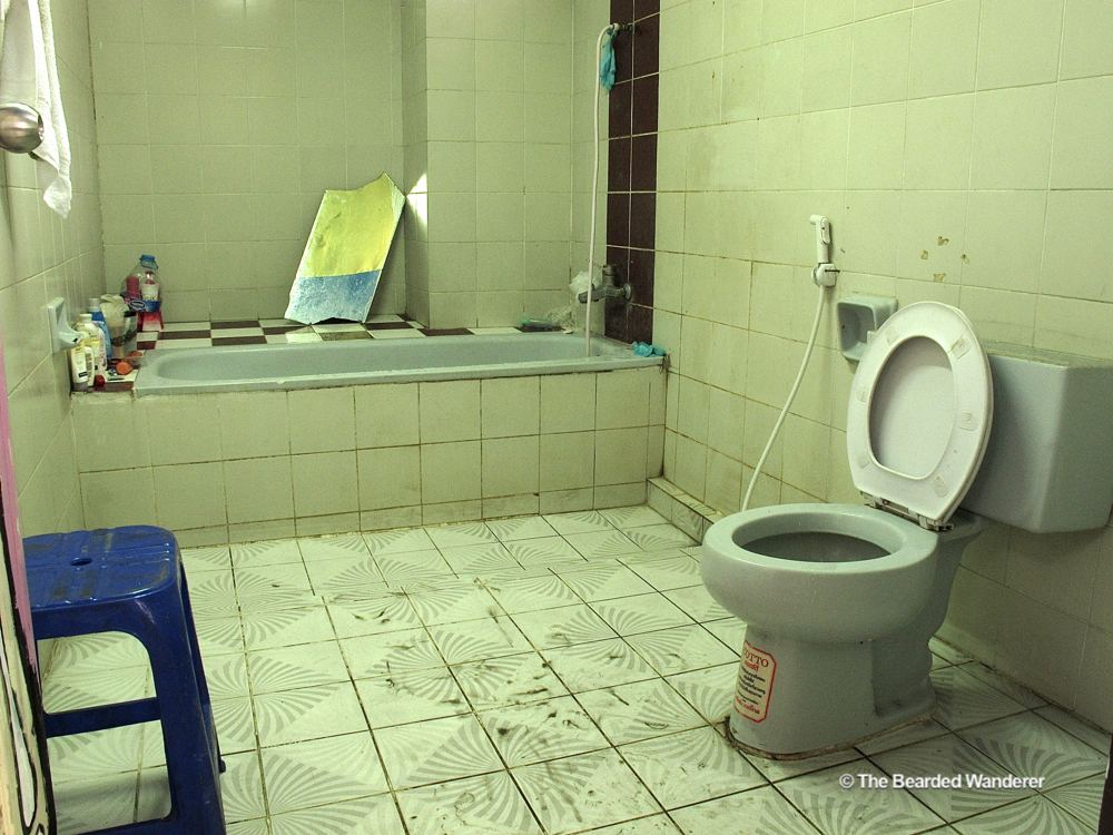 One of the bathrooms at The Overstay in Bangkok. (Will Jackson)