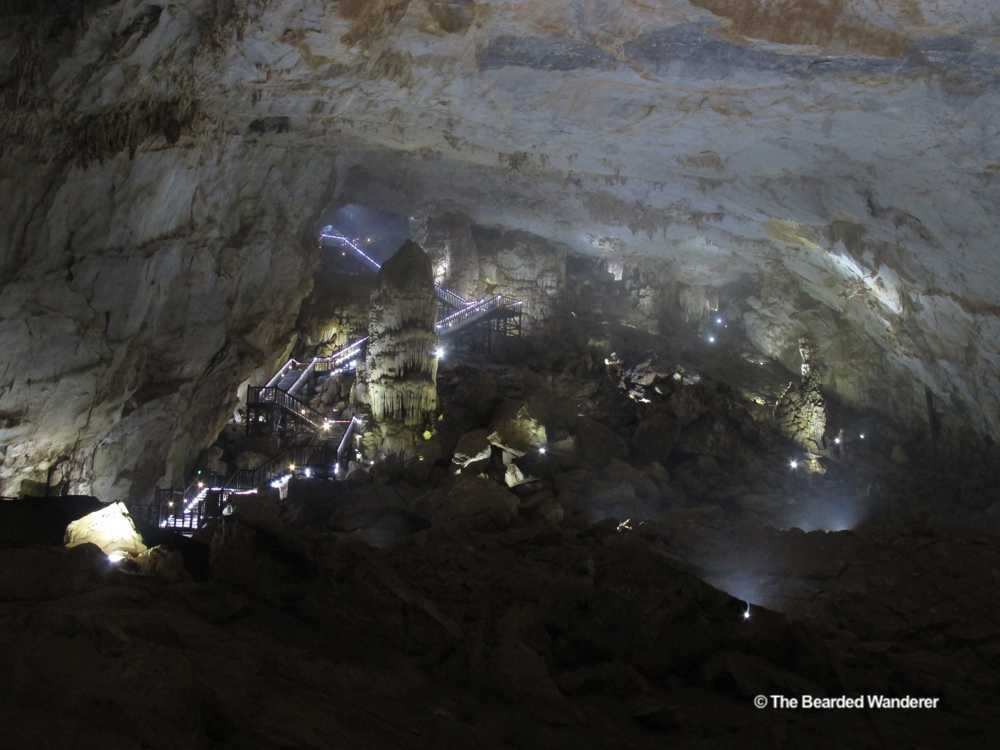 Looking back at the descending staircase that provides access to Paradise Cave. (Will Jackson)
